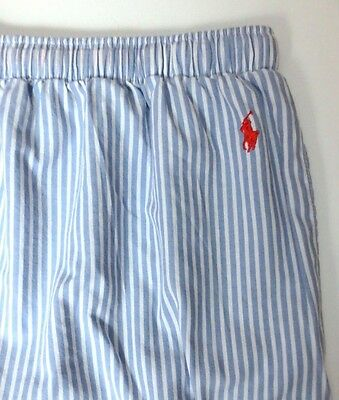 Ralph Lauren Polo Men's Light Blue Striped Sleepwear Lounge Pants - Size XL