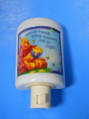 Winnie the Pooh Disney White Ceramic Night light GIFTCO Special Friends