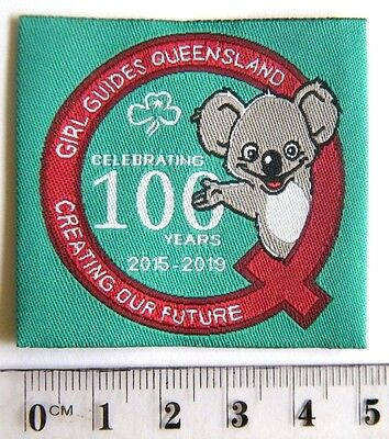 """CENTENARY of GIRL GUIDES QUEENSLAND BADGE """"Creating Our Future"""" 2015-2019"""