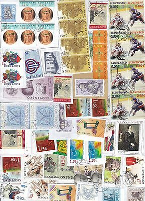 Slovakia 59 stamps on paper kiloware very recent