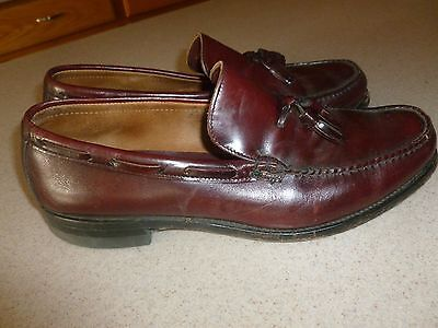 Vintage Men's Hanover Hand Sewn Leather Moccasin Shoes Loafers Moc Toe 9.5 D