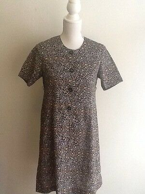 Vintage 1950s 1960s Floral Summer Mod Scooter Dress S Small 8 10