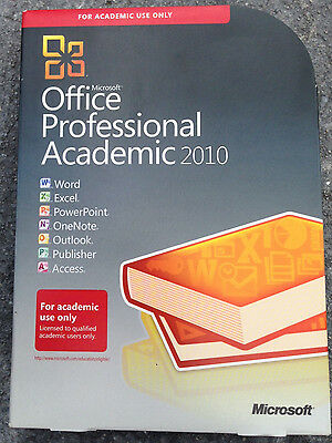 MICROSOFT OFFICE ACADMEMIC 2010 IN BOX WITH PRODUCT KEY For 1 user