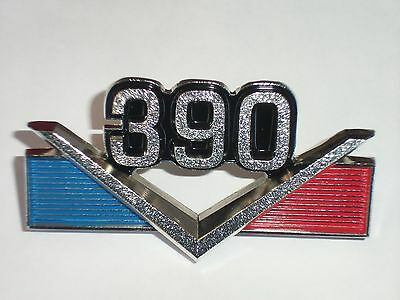 "AMC '390"" EMBLEM 1968 - 69 AMX Javelin 'NEW' ( metal Chrome finish ) AMC#3602428"