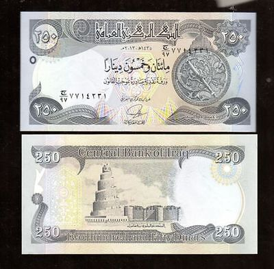 Note From Irq In Middle East, 1 Note Of 250 Dinars, 2014, Unc From Bundle