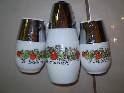 Salt & Pepper & Sugar Shakers Glass Gemco Milk Glass You Choose (ONE ITEM) Gift