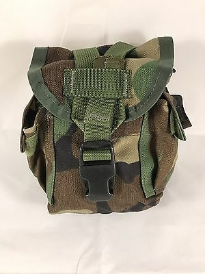 Used Us Military Canteen Pouch Woodland Bdu Camo Molle General Purpose Pouch