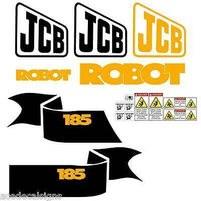 JCB Robot 150, 165, 185 Decals Stickers
