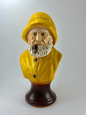 Vintage Sea Captain Bust Fisherman Statue Salty 10.5""
