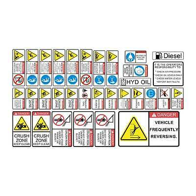 Skid Steer Loader SAFETY DECALS STICKERS KIT Bobcat Case CAT New Holland gehl