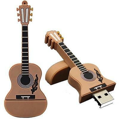 Lattest 16GB Guitar USB 2.0 Metal Flash Memory Stick Storage Thumb U Disk