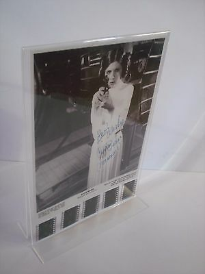 STAR WARS 4 - Prinzessin Leia - Carrie Fisher - XL-Film-Cell-Collage signiert