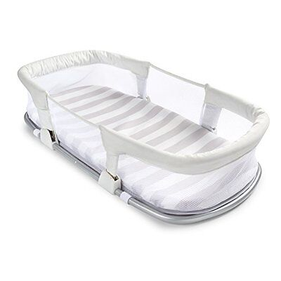 Travel Bed Nursery Cradle Basket Baby Infant Crib Newborn Sleeper Bassinet Mesh
