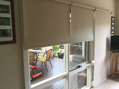 BLOCKOUT ROLLER BLINDS x 3. Excellent Condition