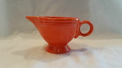 Rare Vintage Near Mint RadioActive RED (orange) Fiesta Fiestaware Ring Creamer