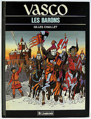 Vasco 5 Les Barons - Gilles Chaillet - EO Lombard 1987 BE