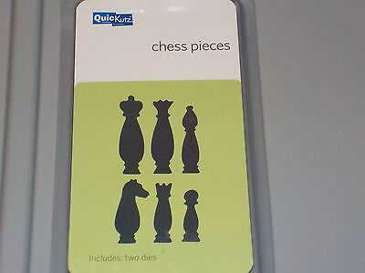 Quickutz Chess Pieces 2X2 Two Cutting Dies Qc-0008-D New Nip A875