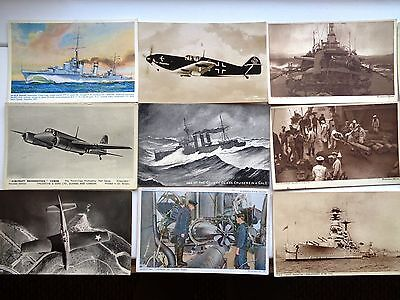 18 x VARIOUS MILITARY POST CARDS MINT V/G CONDITION