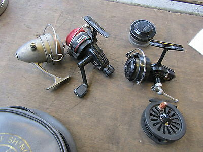 """Fishing Reels Collection Incl. Mitchell, Vintage """"le Omnia Super"""" & Fly Reel"""
