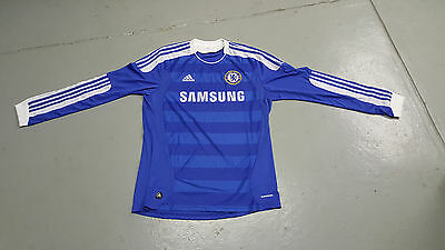 Chelsea FC Home Jersey Shirt 2011-2012 Adidas Large L/S