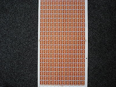 FULL SHEET OF 1/2d 1967 DEFINITIVE STAMPS
