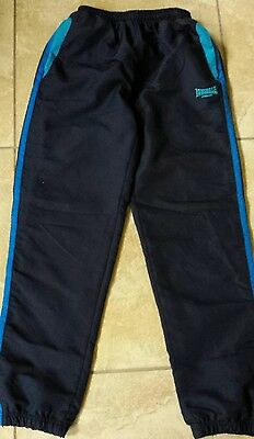 Boys Lonsdale Navy Blue Tracksuit Joggers Bottoms Trousers Age 13 Years