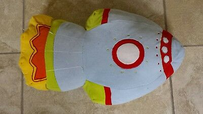 Blast Off Space Rocket Shaped Cushion from Next