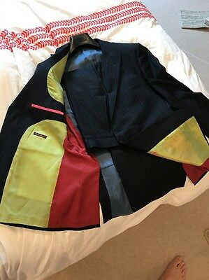 "Holland Esquire Pin Suit 42"" Chest 34 Waist"