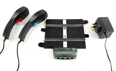 Scalextric Sport power base, controllers and transformer.