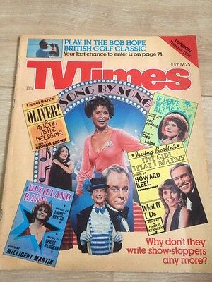 TV Times Magazine Song By Song July 19-25 Year 1980 Thames  / LWT