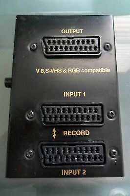 SCART Video Selector SV-34 & two SCART Cables
