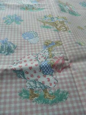 """UNUSED vintage cotton fabric Laura Ashley Mary, Mary, quite contrary 48"""" x 28"""