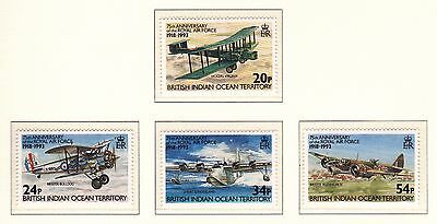 British Indian Ocean Territory 75th Anniv of RAF Sheet and Set UM Cat £13