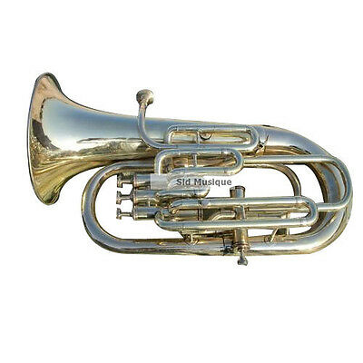 Euphonium 4 Valve Made Of Pure Brass With Free Case Box &  Mouthpiec Brass Polis