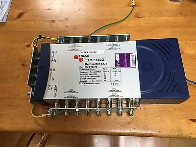 Triax TMP 5 x 32 Mains Powered Satellite Multiswitch -305378 Prices are per unit