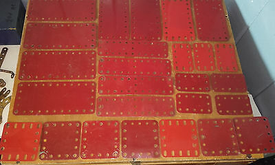 Collection X 26 Vintage Meccano -- Various  Red Flexible Plate(Not Kinked)