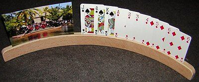 Playing Cards Holders. Wooden. Jumbo Size. Set Of Two.  New.
