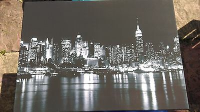 New York Skyline Wall Art Canvas Picture Large Black & White