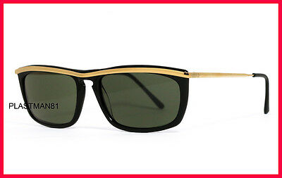 N.O.S! NEW VINTAGE PERSOL RATTI SUNGLASSES model PP 508 PP508 GOLD-BLACK! 80's
