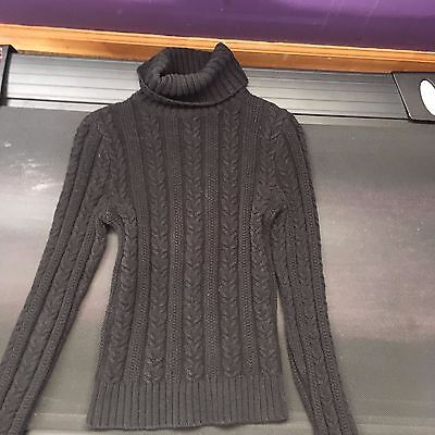 Express Black Turtleneck Cable Knit Chunky Sweater XS