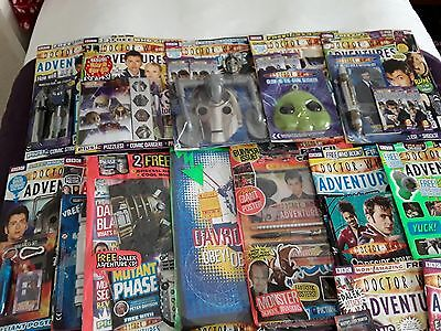 152 x dr who adventures magazine + 120 free gifts