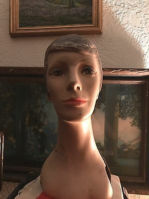 David Bowie Vintage Look A Like Mannequin Bust Rare !