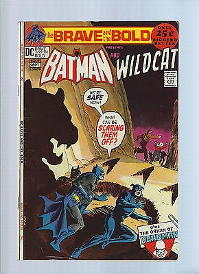 Brave and the Bold 97 F Batman Wildcat origin 1st app Deadman Neal Adams Bob Han