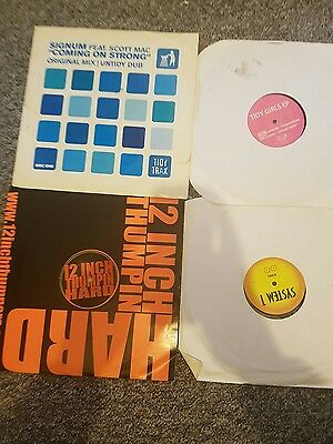hard house vinyl COLLECTION X 4 tidy trax   , system 1 , thumping hard ,