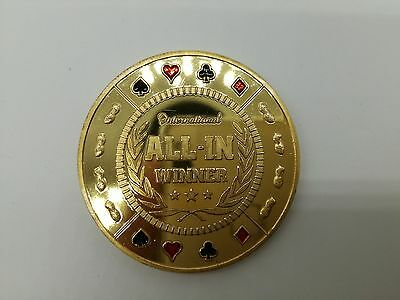 Golden ALL-IN WINNER Casino Poker Card Guard Cover Protector