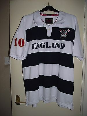 england victorious xxl no 10 white rugby union shirt very good cond