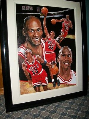 Michael Jordan Original Oil painting by famed sports artist Angolo Marino