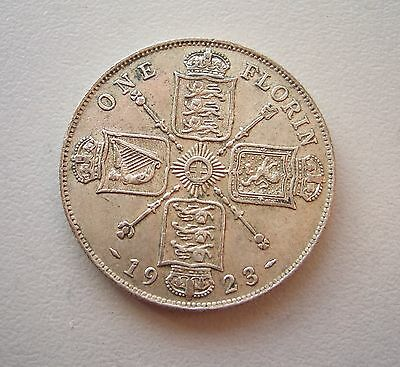 UK, George V  1923 Florin/Two Shillings, Very Fine condition, 28.5 mm Diameter,