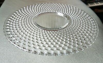 """Art Deco style glass dish/bowl marked """"Regn Appld For""""  wide rim candy"""