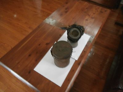 Rare German WWI gas mask marked to MG COMPANY